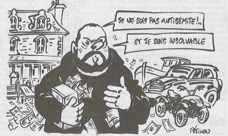 Caricature de Dieudonné par Pétillon parue dans Le Canard Enchaîné du 12 février 2014