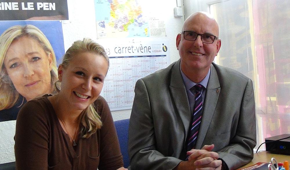 Marion Maréchal Le Pen et Claude Heintz