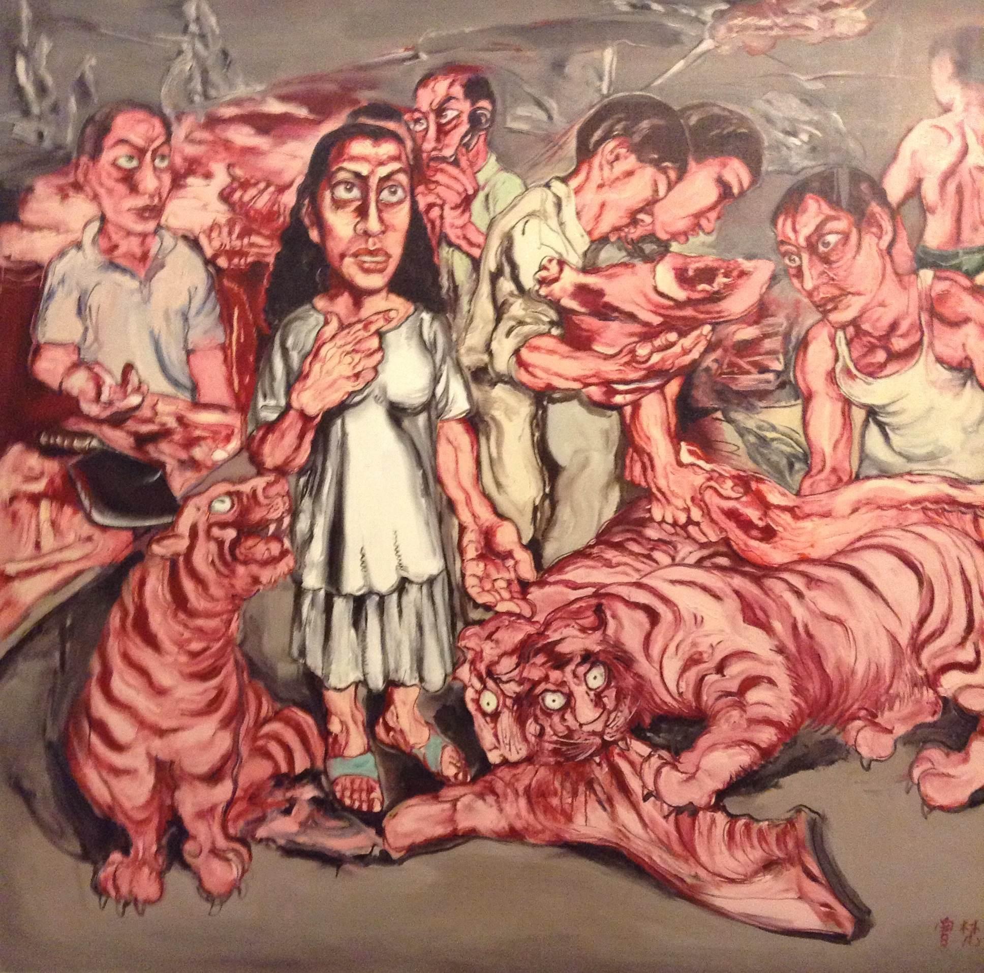 Zeng Fanzhi, Man & Meat, 1993