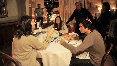 """Tournage d'une scène du film """"24 jours, la vérité sur la mort de Ilan Halimi"""""""