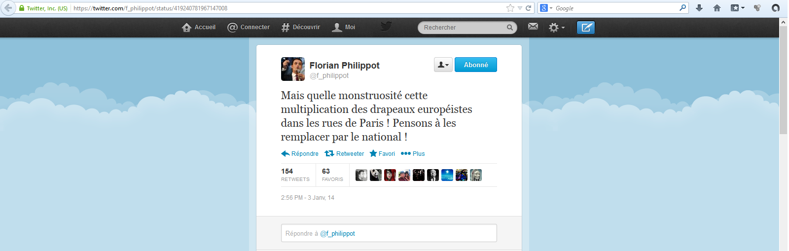 Florian-Philippot-04-01-14-Drapeaux-europeens