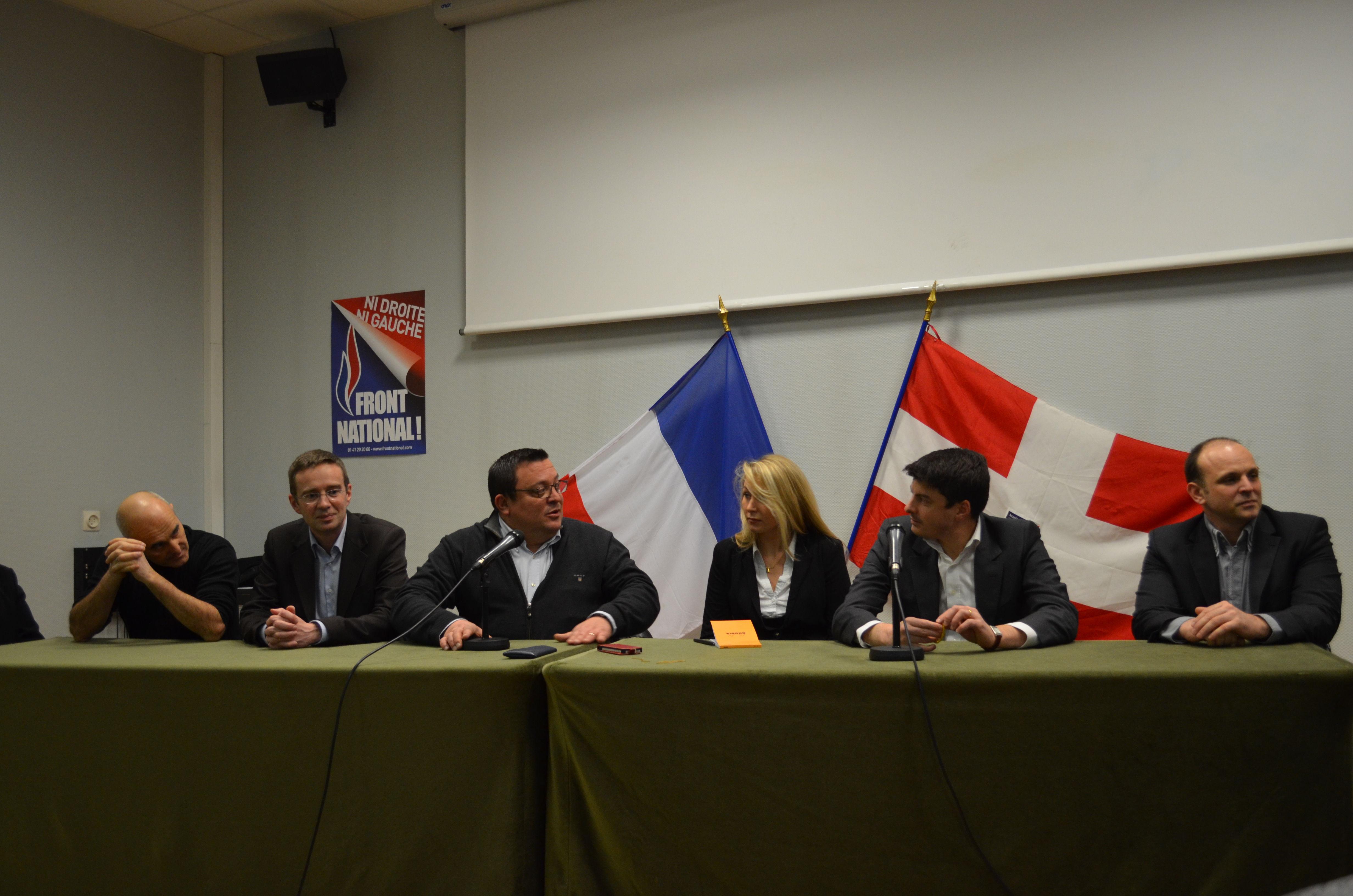 Vincent Lecaillon, Olivier Burlats, Dominique Martin, Marion Maréchal Le Pen, Thomas Noël