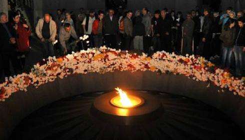 Monument aux victimes du génocide arménien, à Yerevan © Karen Minasyan / AFP