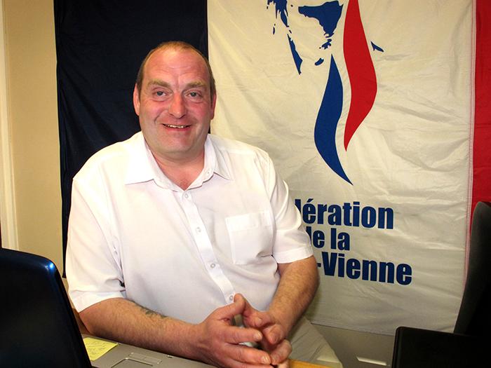 Vincent Gérard, candidat FN à la mairie de Limoges.