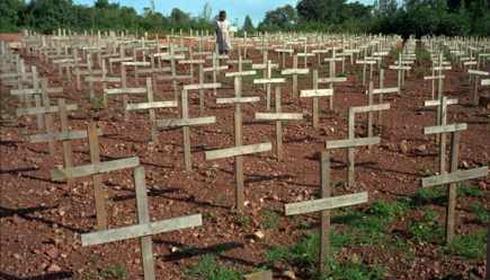 Cimetière des victimes du génocide au Rwanda