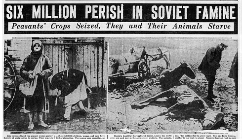 Photos des ravages de L'Holodomor, Chicago American, 1935