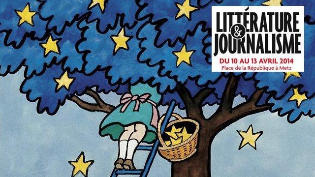 L'affiche du festival littérature et journaliste de Metz 2014 signée Tomi Ungerer.