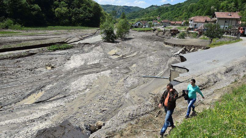 La Bosnie, comme toute l'ex-Yougoslavie, a été frappée il y a quelques jours par les pires intempéries depuis un siècle. Photo AFP