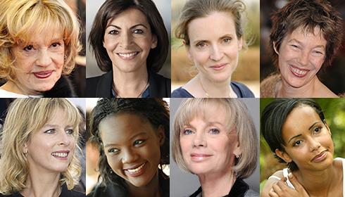 Jeanne Moreau, Anne Hidalgo, NKM, Jane Birkin, Karine Viard, Rama Yade, Elizabeth Guigou, Sonia Rolland