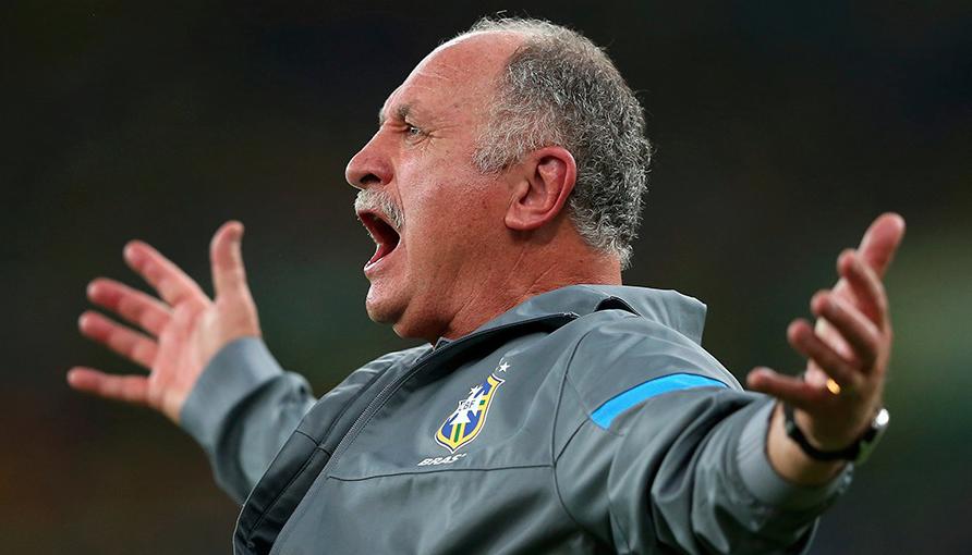 Luiz Felipe Scolari, le sélectionneur de l'équipe nationale brésilienne de foot