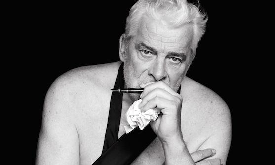 """Le comédien Jacques Weber. (Détail de l'affiche de la pièce """"Hôtel Europe"""". Photo : Dominique Issermann)"""