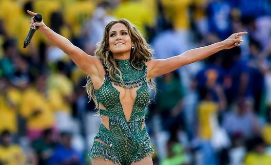 Jennifer Lopez lors de la cérémonie d'ouverture du Mondial 2014.