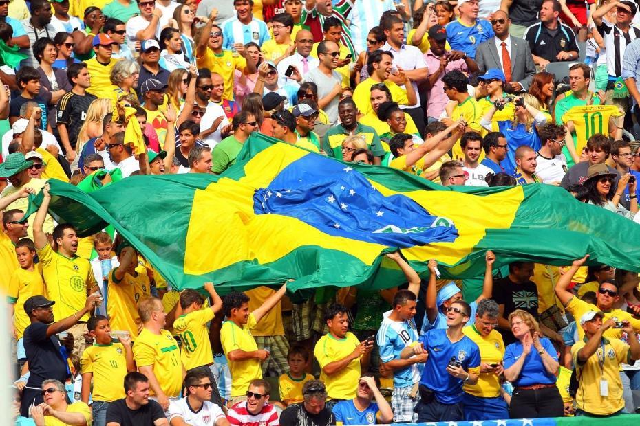 Groupe de supporteurs brésiliens
