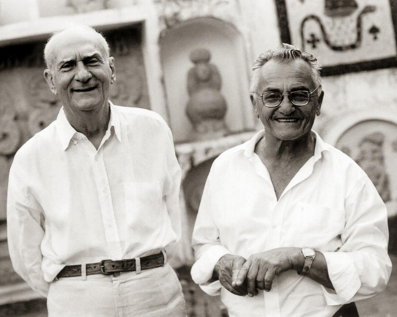 Ariano Suassuna et l'écrivain argentin Jorge Luis Borges