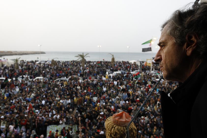 Bernard-Henri LŽévy en Libye.