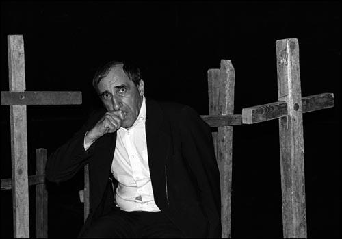 Tadeusz Kantor à New York en 1982.