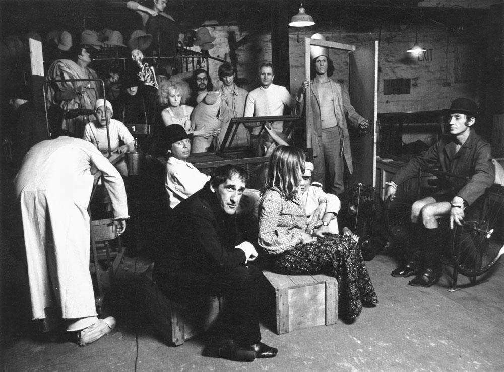 Kantor et le Théâtre Cricot 2 en 1973. Photo : Richard Demarco