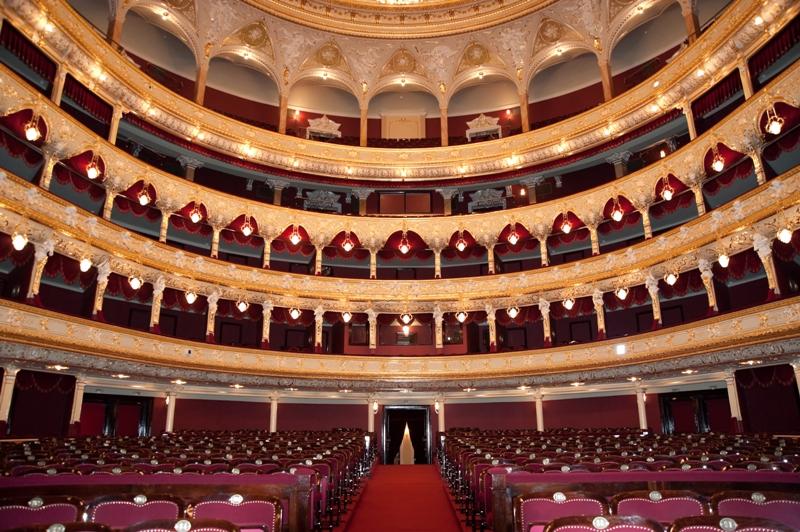 L'Opéra national d'Odessa, en Ukraine, où BHL a réalisé une lecture de sa pièce Hôtel Europe.