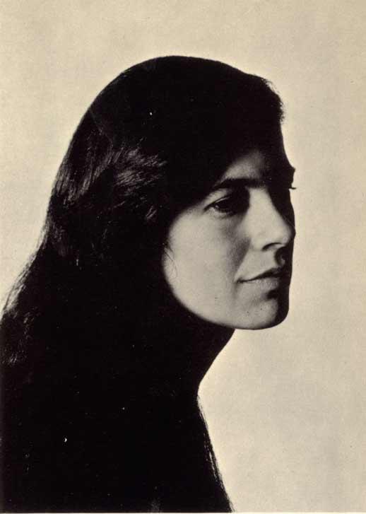 Susan Sontag en 1967, par Philippe Halsman.