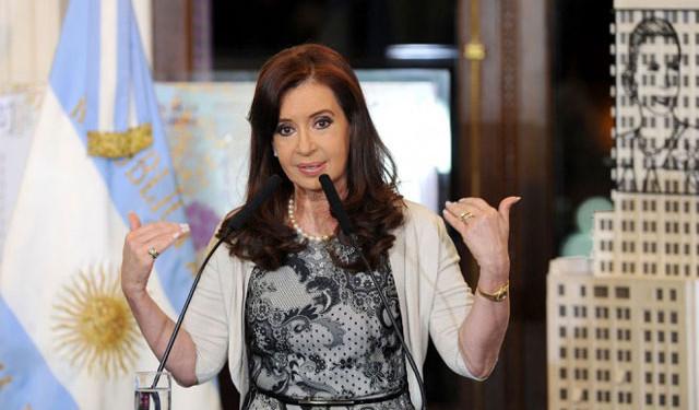 Cristina Kirchner, présidente de l'Argentine et qui succéda à son défunt mari Nestor Kirchner.