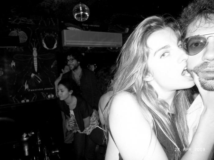 Sonia Sieff et Olivier Zahm au Montana, à Paris. Photo : Olivier Zahm