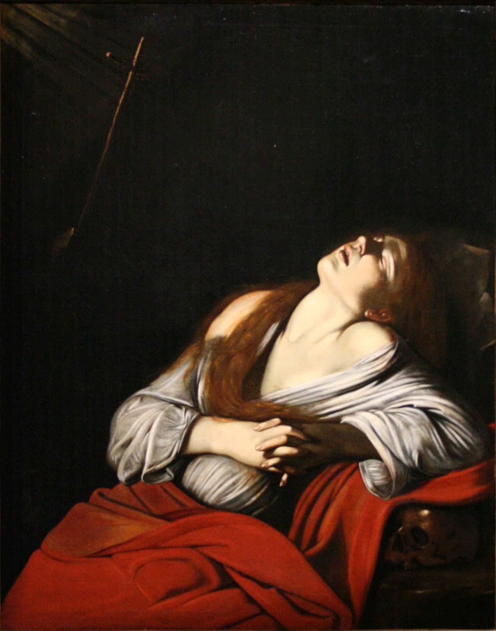 Louis Finson, Madeleine en extase, 1612, huile sur toile, 120 x 100 cm, Marseille, musée des Beaux-Arts.