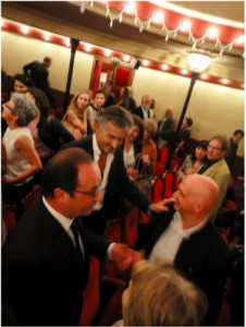 François Hollande et Bernard-Henri Lévy © Yann Revol