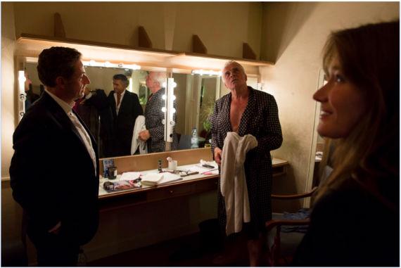Nicolas Sarkozy, Jacques Weber et Carla Bruni © Yann Revol