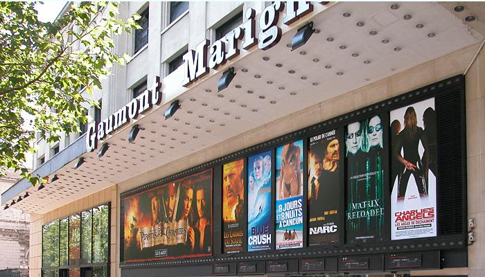 Le cinéma Gaumont Marignan, 27 avenue des Champs-Élysées