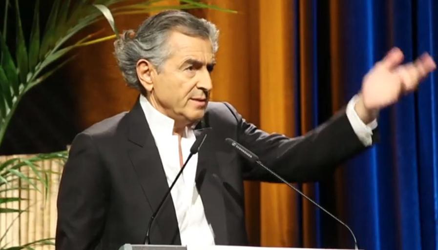 Bernard-Henri Lévy au IXe Congrès de l'Association Mondiale de la Psychanalyse, en avril 2014.