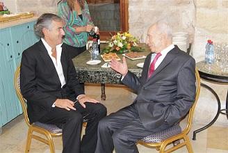 Bernard-Henri Lévy et Shimon Peres