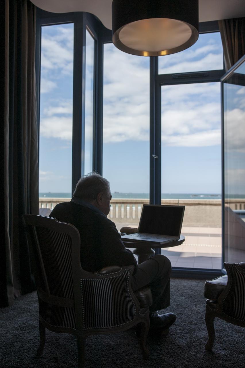 Claude Lanzmann, en 2012. Photo Yann Revol