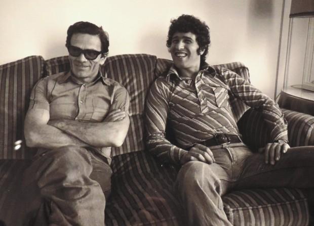 Pasolini et Ninetto Davoli