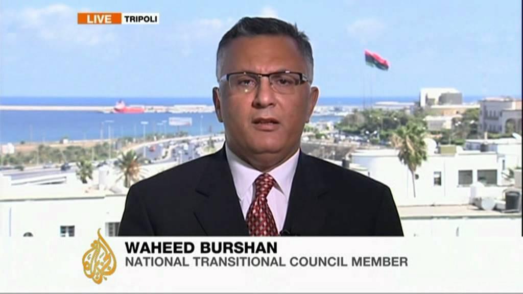 Waheed Burshan, ingénieur libyen et ancien membre du CNT (Conseil National de Transition Libyen).