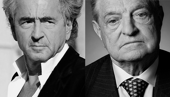 Bernard-Henri Lévy et George Soros