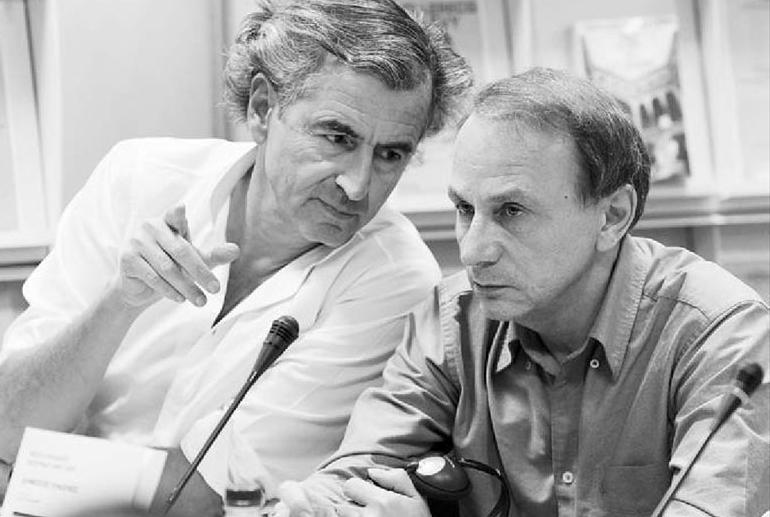 Bernard-Henri Lévy et Michel Houellebecq