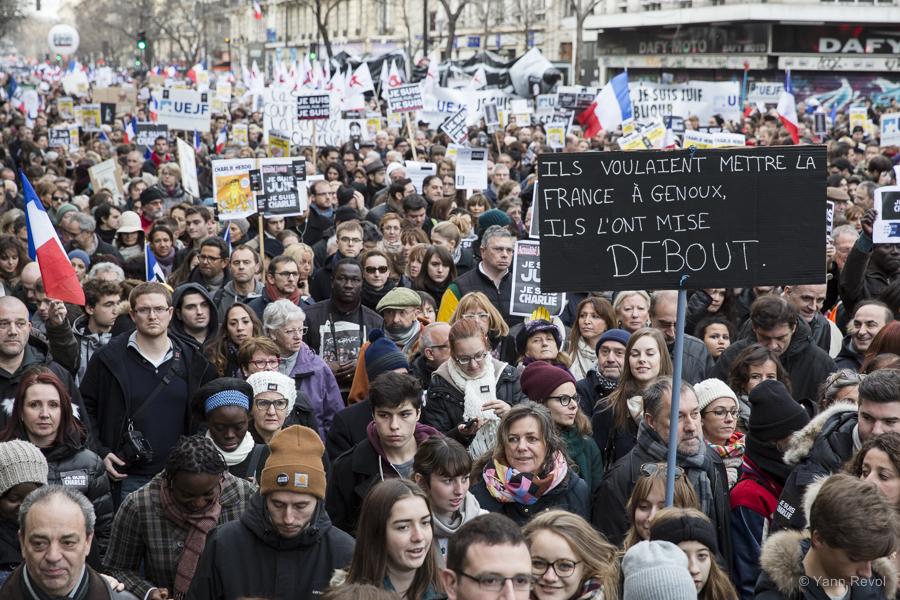 Lors de la marche républicaine, dimanche 11 janvier 2015 à Paris.