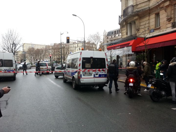Porte de Vincennes, lors de la prise d'otage dans une épicerie.
