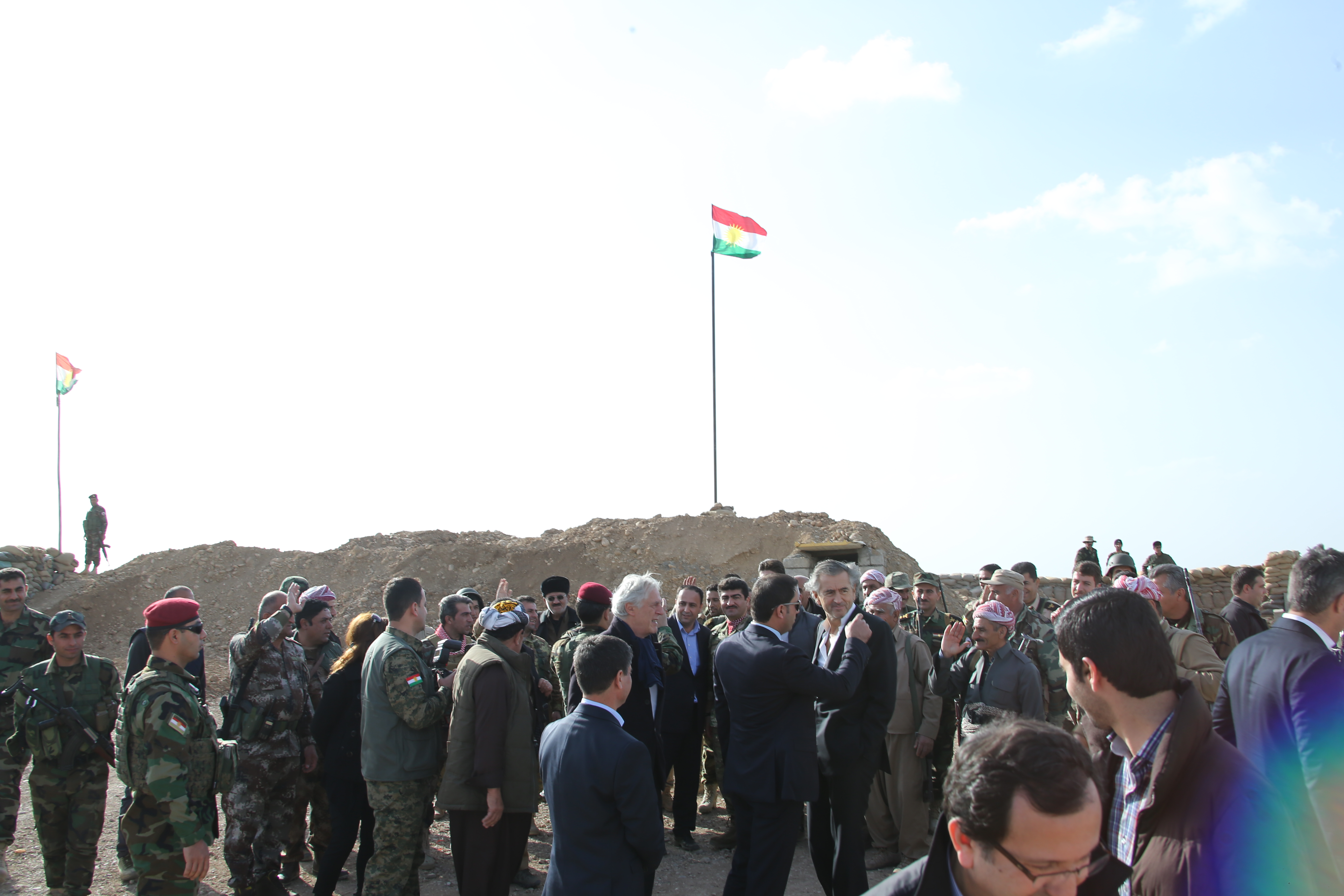 Bernard-Henri Lévy au Kurdistan.