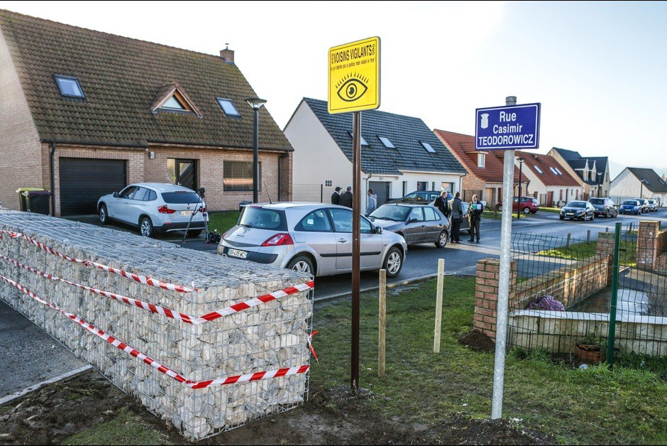 Le mur anti-cambrioleurs à Henin-Beaumont