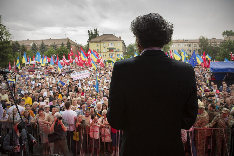 Bernard-Henri Lévy en Ukraine