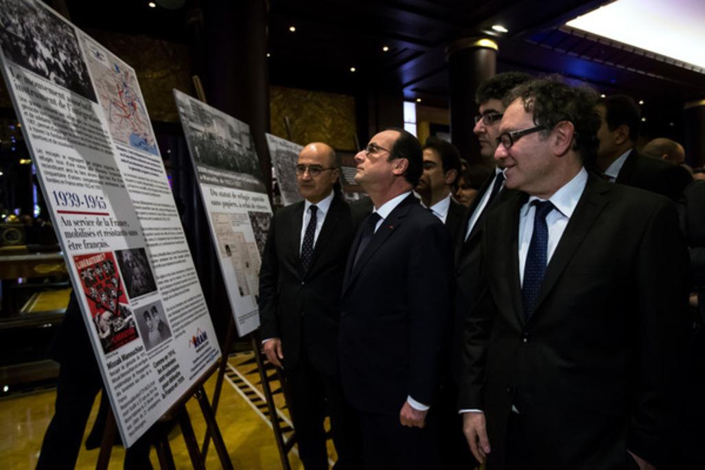 François Hollande au Conseil de coordination des organisations arméniennes de France (CCAF).