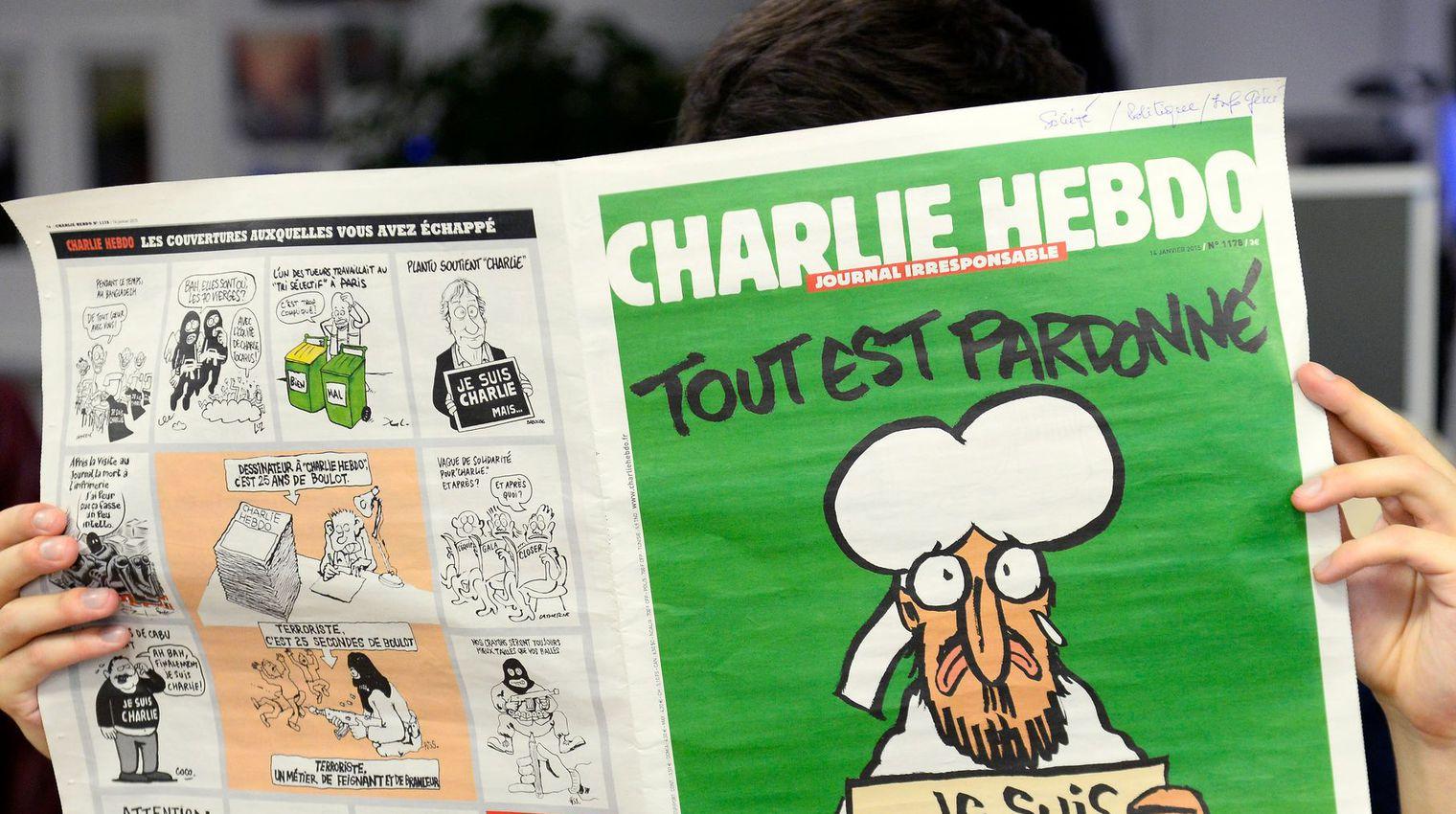 La Une de Charlie Hebdo suite aux attentats.