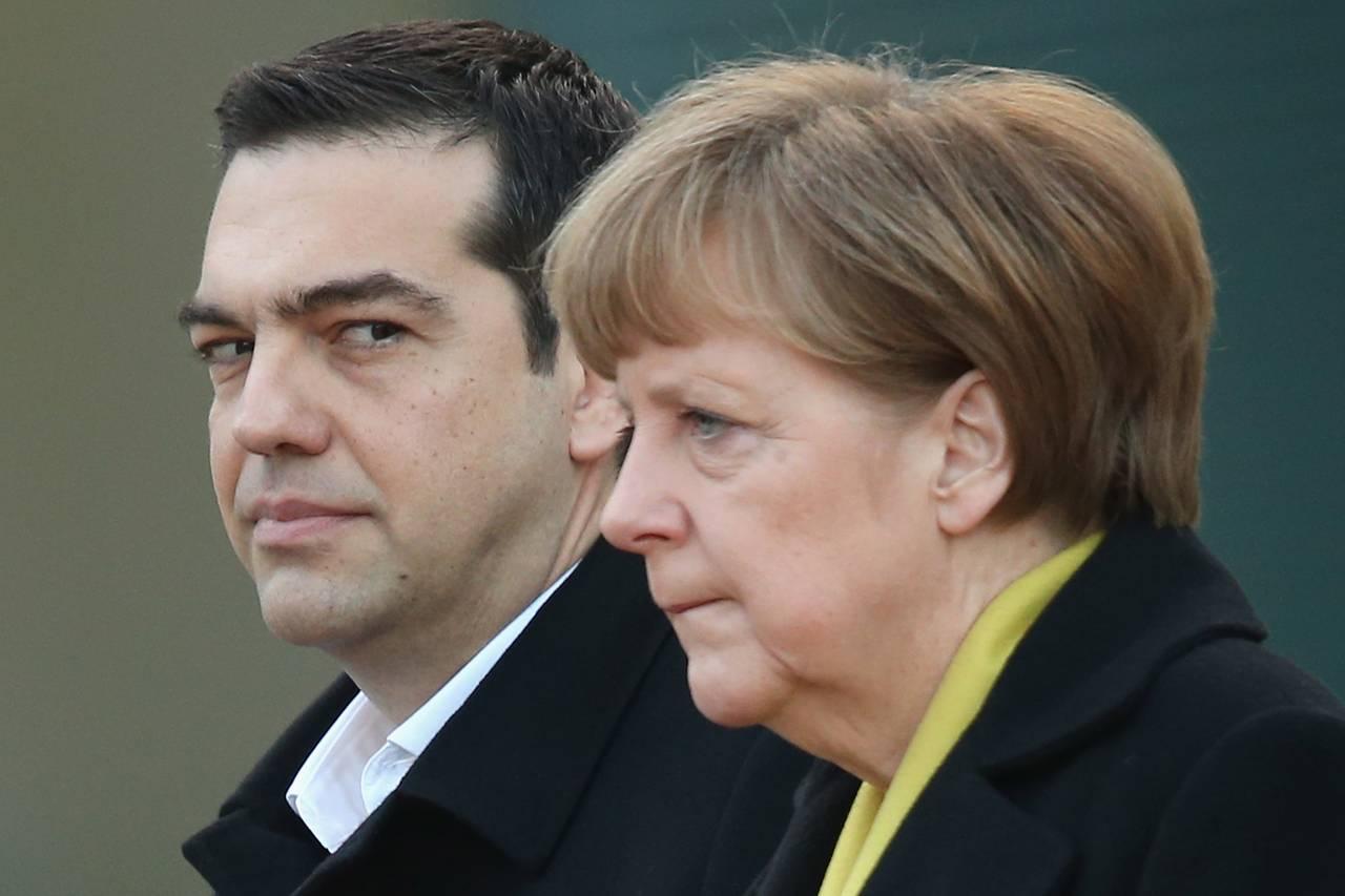 Alexis Tsipras et Angela Merkel
