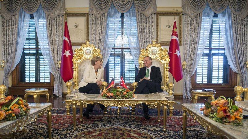 Le président turc Recep Tayyip Erdogan et la chancelière allemande Angela Merkel à Istanbul.
