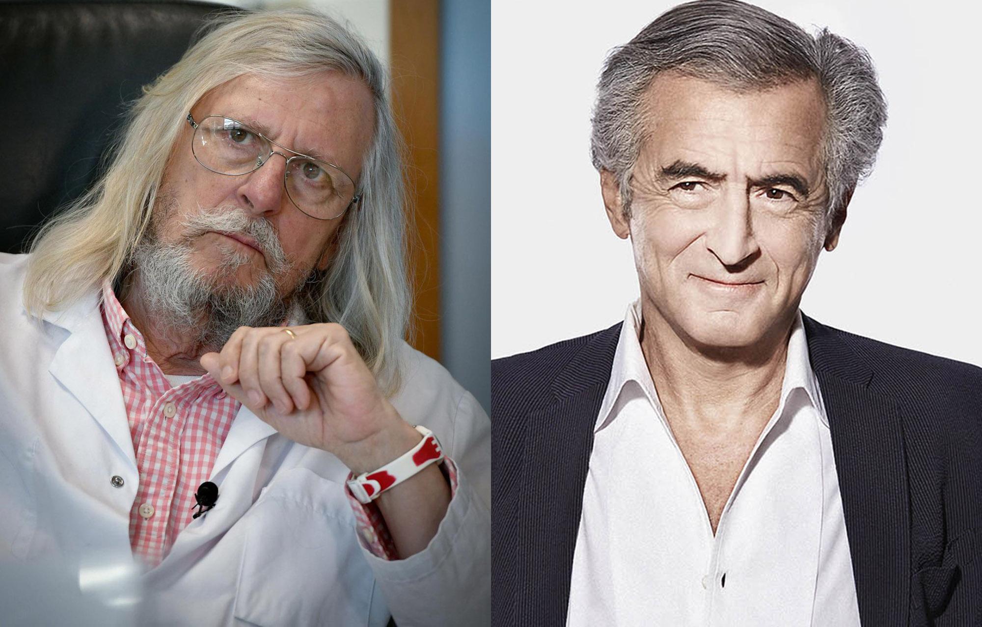 Le médecin Didier Raoult et le philosophe Bernard-Henri Lévy.