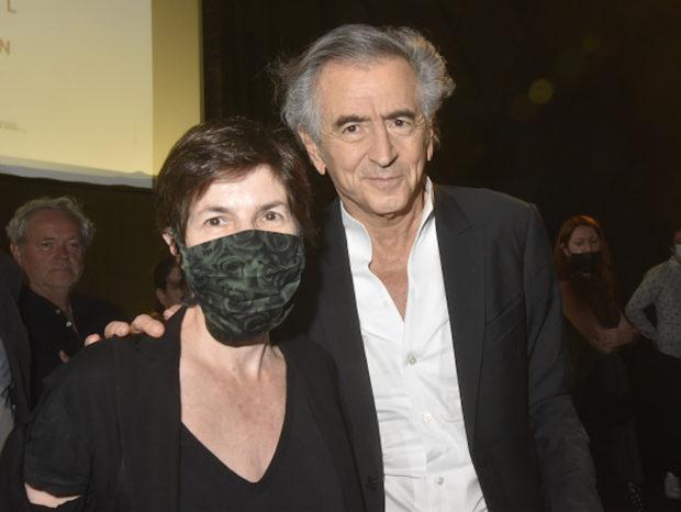 Portraits de Christine Angot et Bernard Henri Lévy