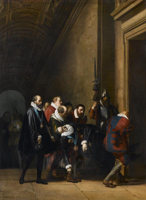 Joseph-Nicolas Robert-Fleury, Henri IV rapporté au Louvre, 1836, galerie Talabardon et Gautier.