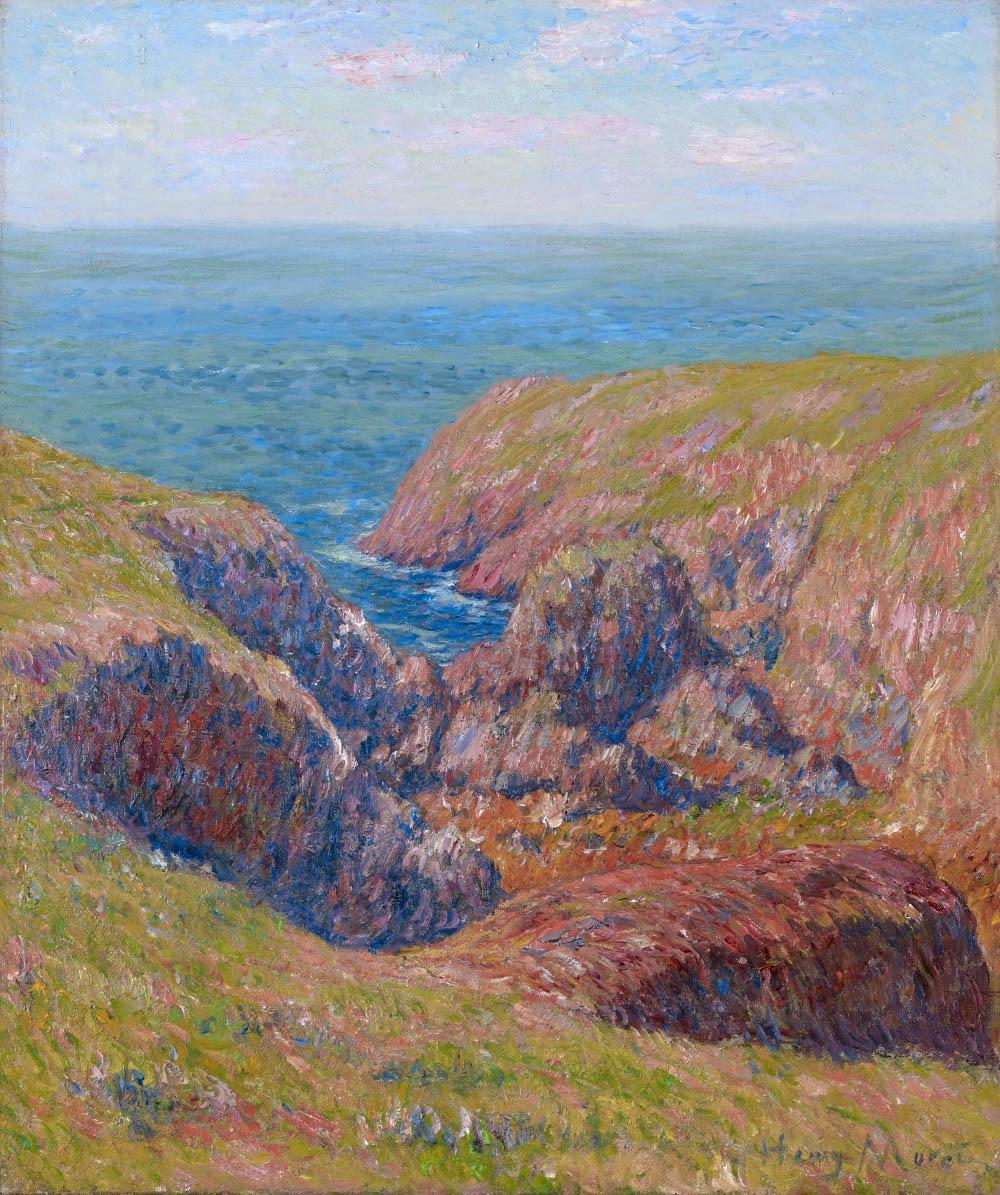 Henry Moret, Jour d'été sur la côte à Doëlan, vers 1905, 54,5 x 46 cm, galerie Stoppenbach et Delestre.