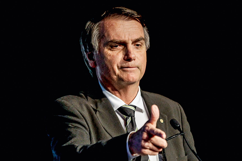 Le candidat à la présidence du Brésil, Jair Bolsonaro, lors d'un événement (Forum Unica) le 18/06/2018.